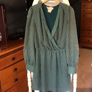 Anthropologie Long Sleeve Flowy Dress